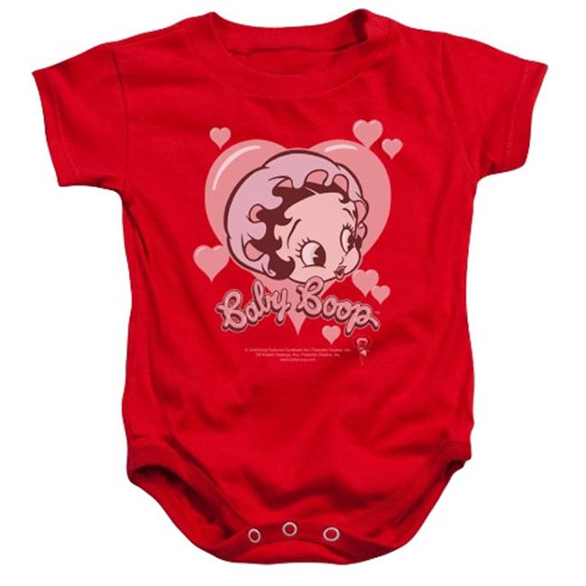 Boop-Baby Heart - Infant Snapsuit - Red, Small 6 Months - image 1 of 1