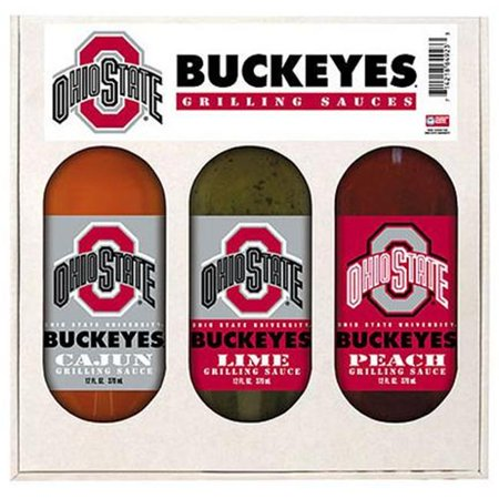 Hot Sauce Harrys 4923 OHIO STATE Buckeyes Grilling Gift Set 3- - State Grilling Sauce Set