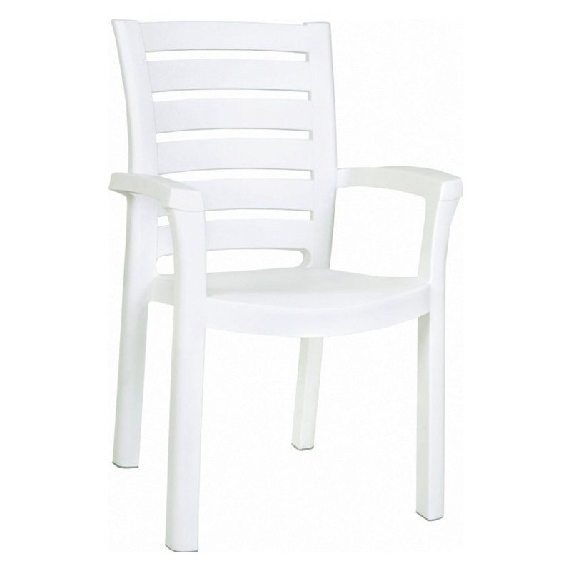 Compamia ISP016-WHI Marina Resin Dining Armchair White Set of 4 by Compamia