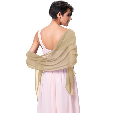 Chiffon Shawls and Wraps for Evening Dresses, Wedding Shawl Wrap Fringes Scarf for (Dress Scarf Collection)