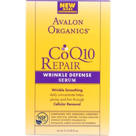 Avalon Organics Coq10 Repair Wrinkle Defense Serum, 0.55 Oz (Avalon Organics Coq10 Wrinkle Defense Serum)