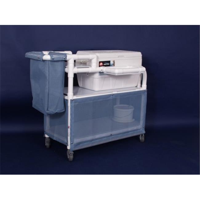 Anthros Medical I3840-3 48 Qt Ice Cart, Swing-up Shelf, B...