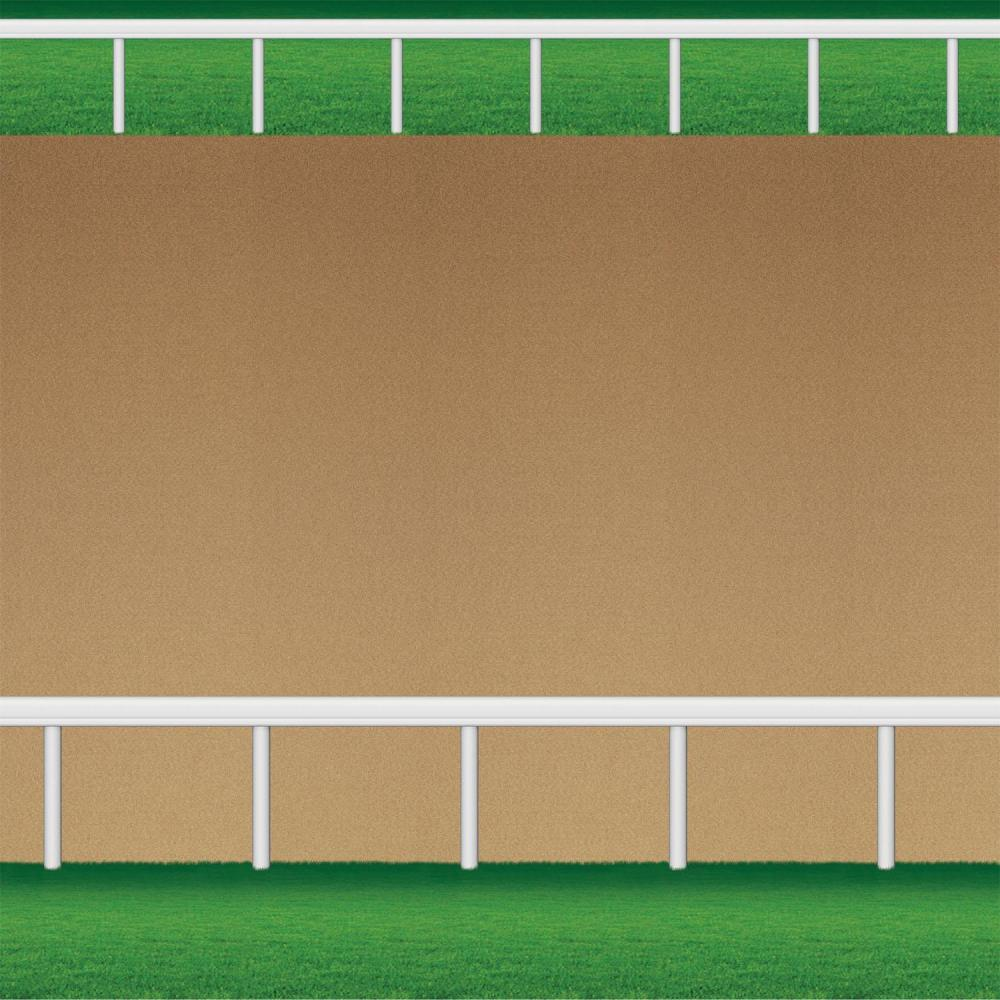Horse Racing Party Dirt Racetrack Backdrop (Qty of 6)