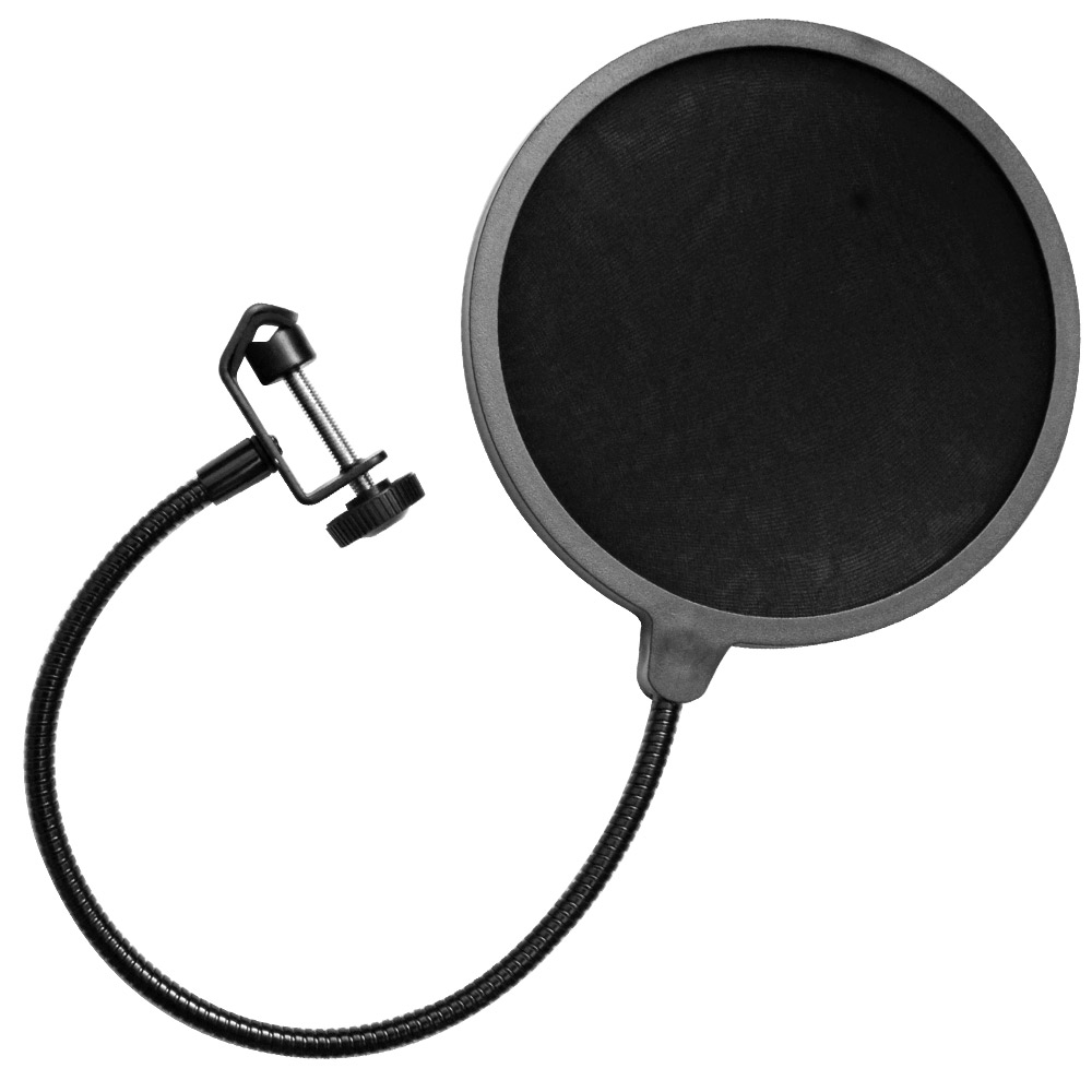 Seismic Audio  - Flexible Microphone Wind Screen Studio Mic Pop Filter Windscreen Black - SA-MicScreen