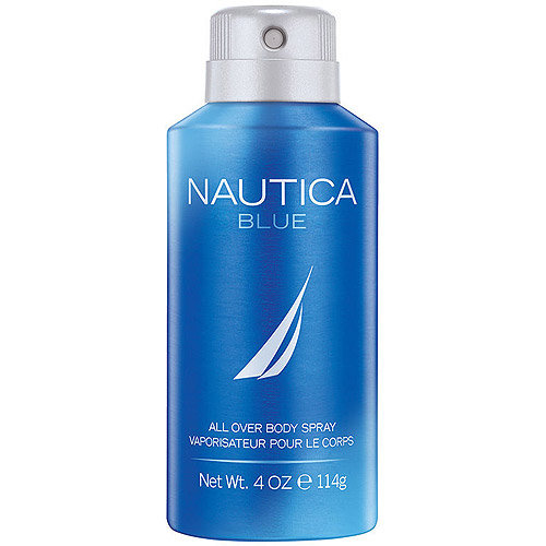 Nautica Blue by Nautica All Over Body Spray for Men, 4 fl oz