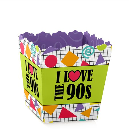 90's Throwback - Party Mini Favor Boxes - 1990's or Birthday Party Treat Candy Boxes - Set of - 90s Birthday