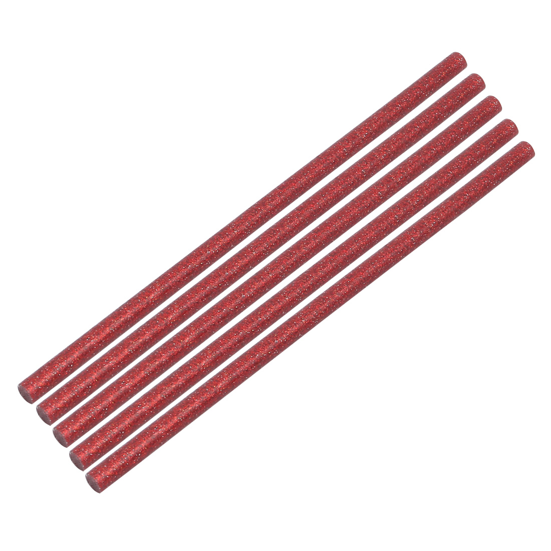 Unique Bargains 5pcs 7mm x 200mm Economy Hot Melt Glue Sticks Red for DIY Small Craft Projects