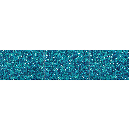 Aqua Glitter Border