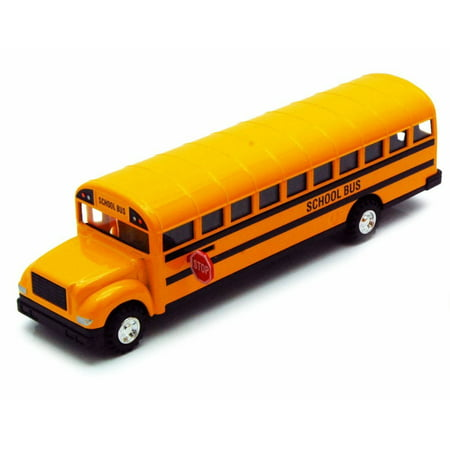 Large Die Cast yellow School Bus toy model with Pull back action 8.5