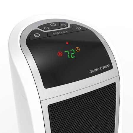 Lasko 1500W Digital Ceramic Tower Space Heater with Remote, 5165, White