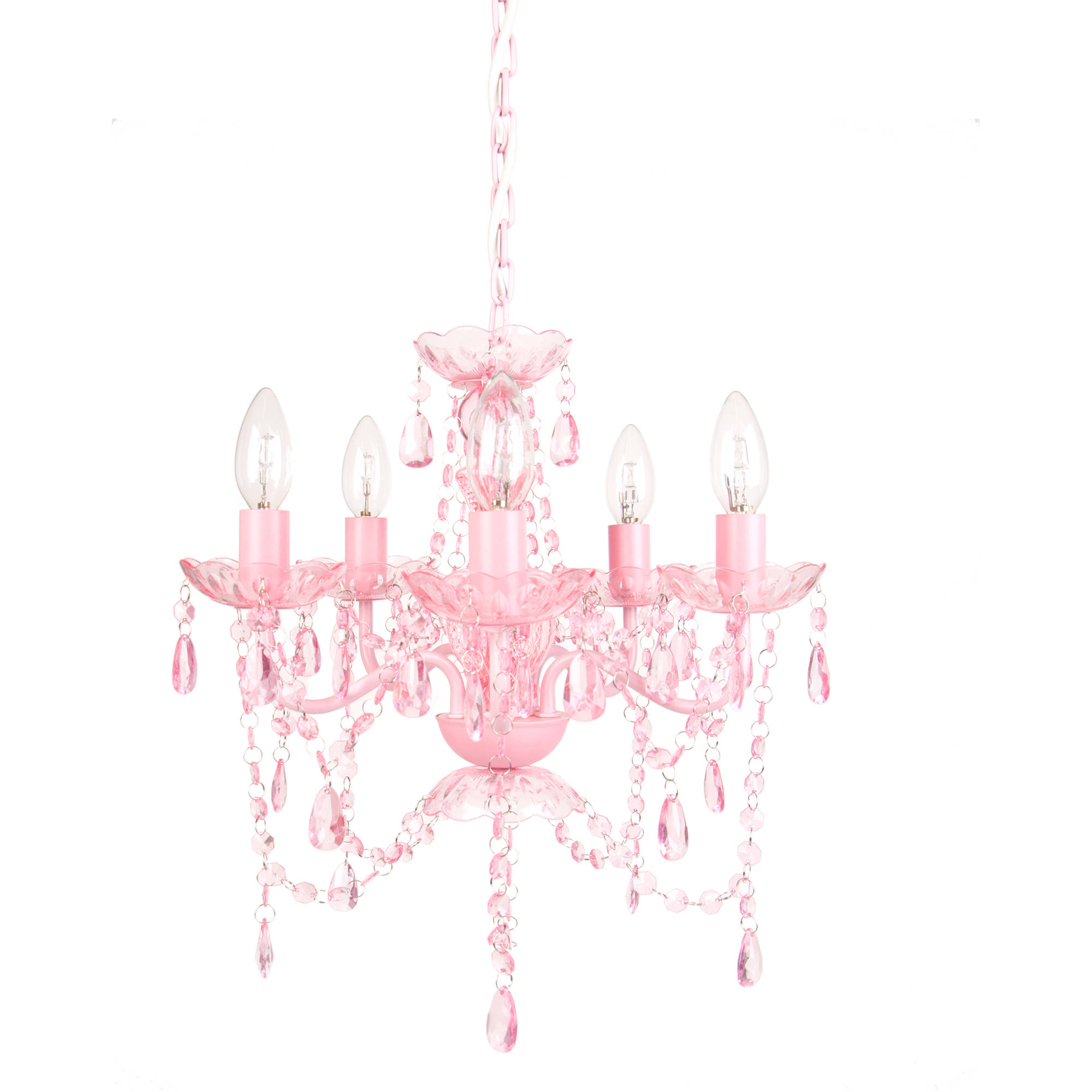 Tadpoles 5-Bulb Chandelier, Pink Sapphire by Sleeping Partners