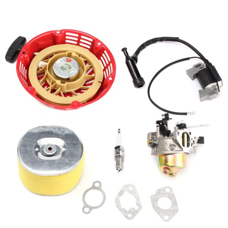 - Replacement Carburetor Carb Recoil Pull Start Starter Air Filter Ignition Coil Spark Plug Gasket For GX240 8HP GX270 9HP US