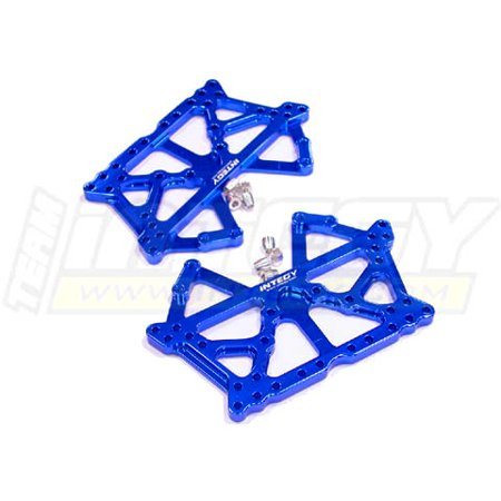 Integy RC Toy Model Hop-ups T8608BLUE Alloy Main Chassis Set for Tamiya CR01 (Main Chassis Set)