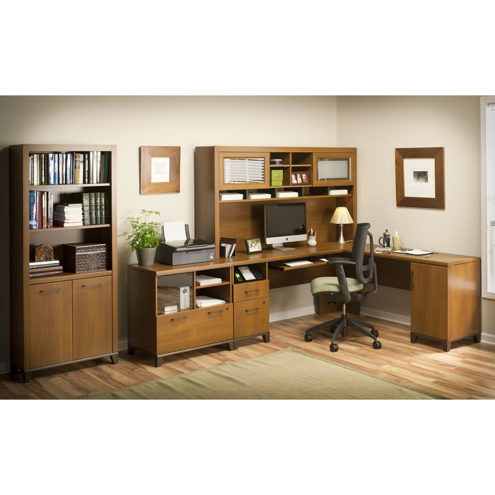 Office Connect Achieve Collection L Shaped Computer Desk With File Drawer And Optional Hutch