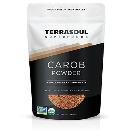 Terrasoul Superfoods Organic Carob Powder, 1.0 (Raw Carob Powder)