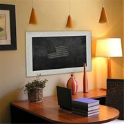 Rayne Mirrors American Made Rayne White Washed Antique Blackboard/ Chalkboard