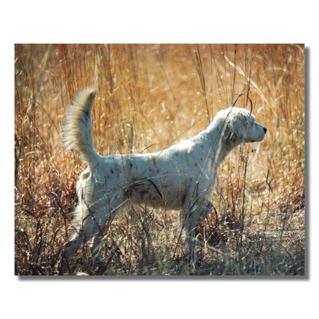 Setter Dog Hunting Field Cabin Wall Picture Art Print