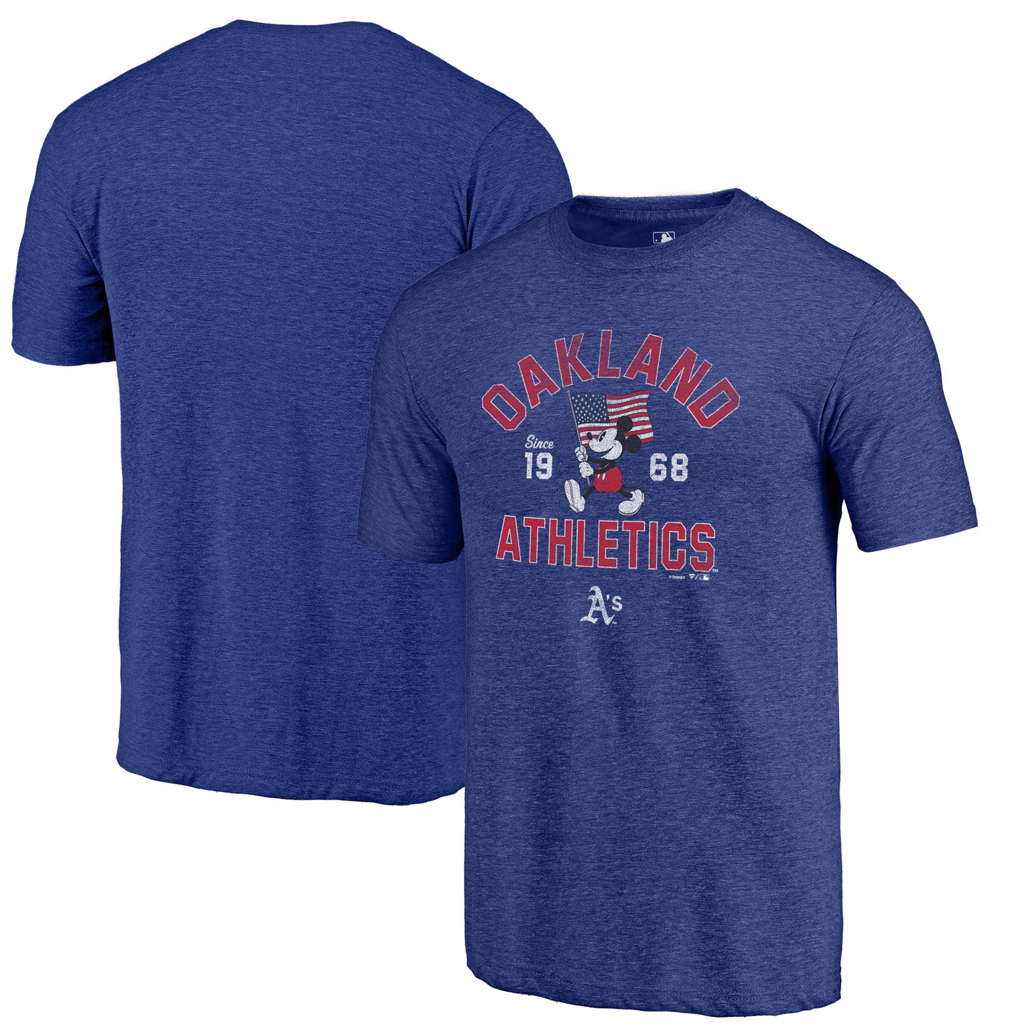 Oakland Athletics Fanatics Branded Disney American Icon Tri-Blend T-Shirt - Royal