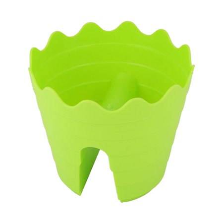 Garden Plastic Drainage Holes Planter Firmly on Railing Deck Flower Pot