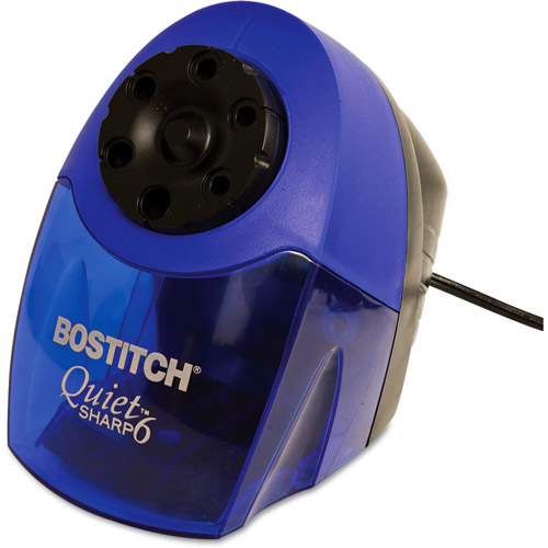 Stanley Bostitch Quiet Sharp 6 Commercial Desktop Electric Pencil Sharpener, Blue