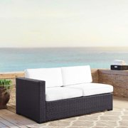 Crosley Furniture Biscayne Loveseat With Int. Arm With White Cushions