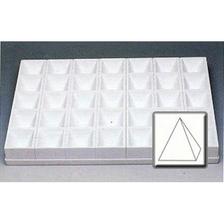 Martellato Polycarbonate Pyramid Production Mold 4 oz. 35 cavities per tray
