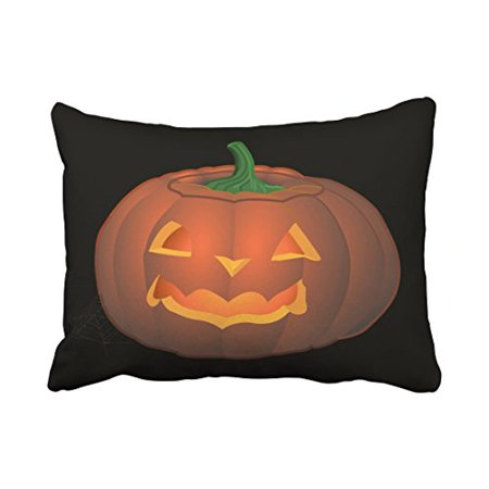 WinHome Decorative Pillowcases Halloween Pumkin Throw Pillow Covers Cases Cushion Cover Case Gifts Lantern Decor Sofa 20x30 Inches Two Side](Halloween Pumkin Carving Ideas)