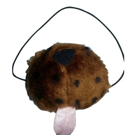 Plush Dog Animal Puppy Nose Mini Mask Toy Costume Accessory Brown (Dog Mask Costume)