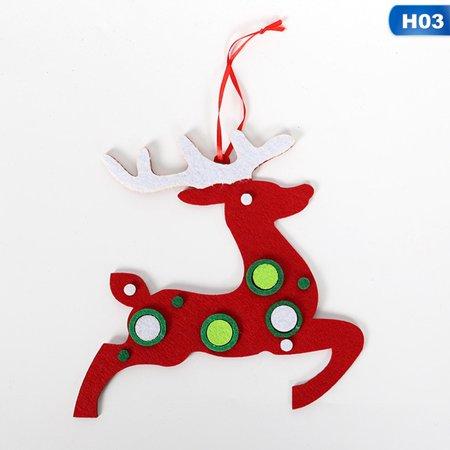 Fancyleo Home Santa Claus Deer Decor Door Wall Hanging Felt Christmas Tree Ornaments New