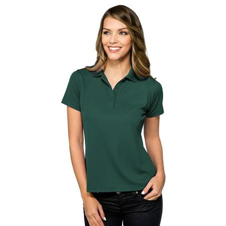 - Tri-Mountain Women's Rib Collar Pique Polo Shirt