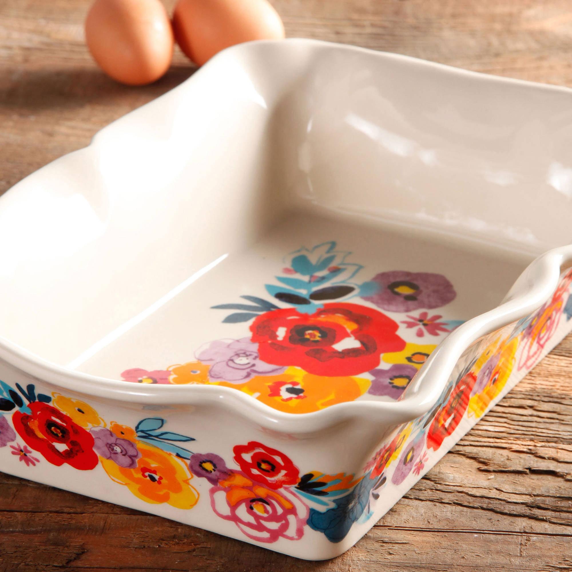 Kitchen Dining Ceramic Bakeware Set 2 Piece Non Stick