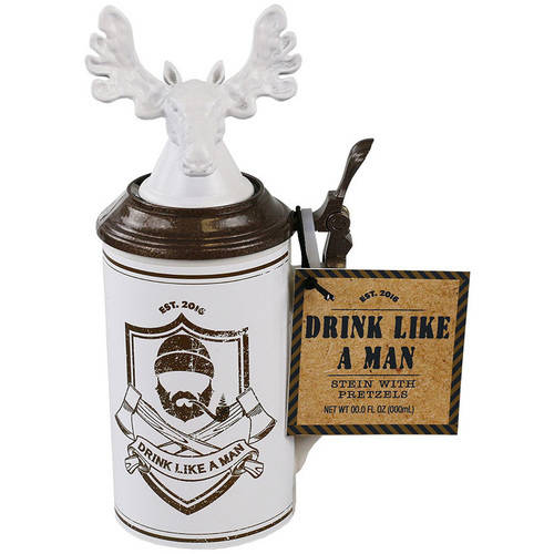 Coastal Cocktails Drink Like a Man Stein Gift Set, 2 pc