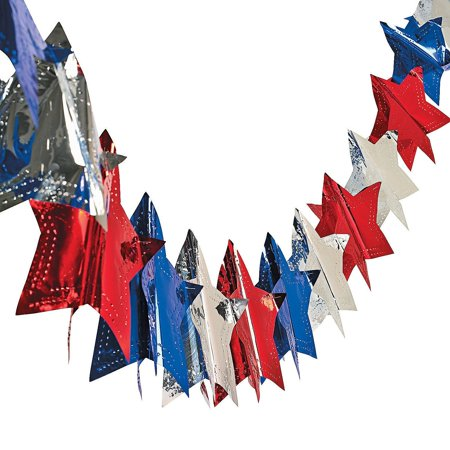 Star Garland Decoration (Star Garland - 4th of July & Party Decorations (9 Ft. X 7 1/4