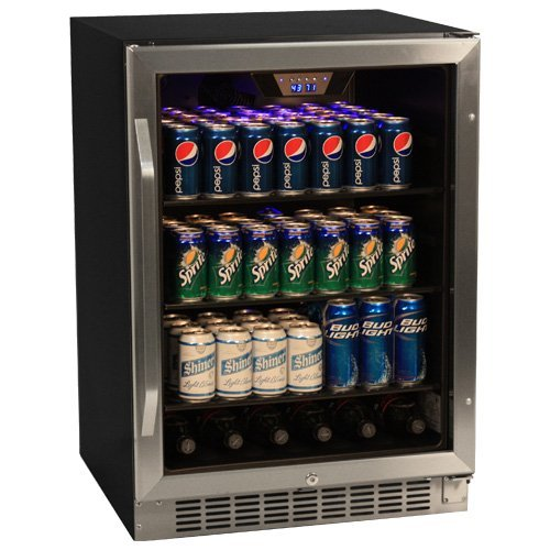"EdgeStar CBR1501SG 24"" Wide 148 Can Built-In Beverage Cooler with Tinted Door"