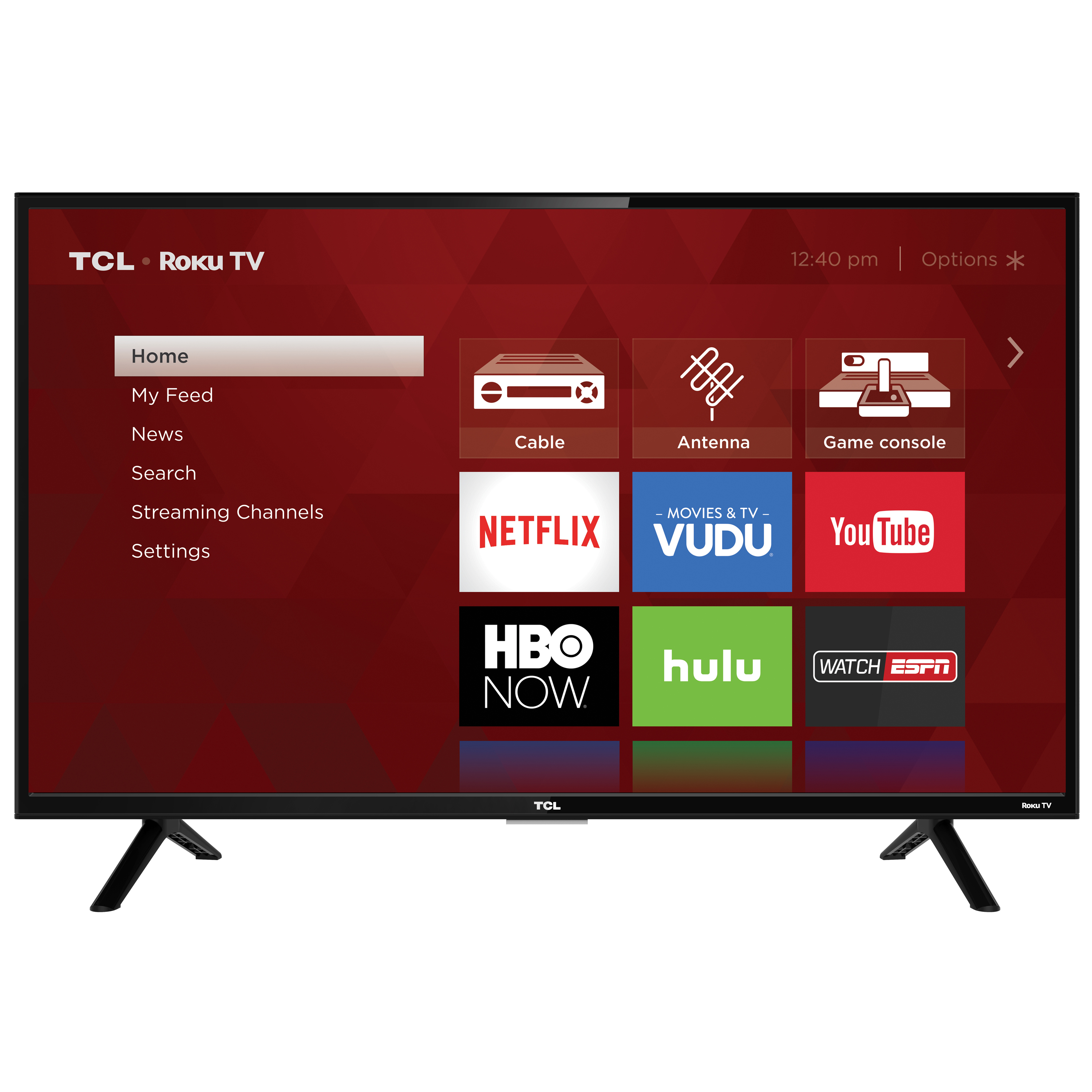 """Refurbished TCL 32"""" Class HD (720P) Roku Smart LED TV (32S301)"""
