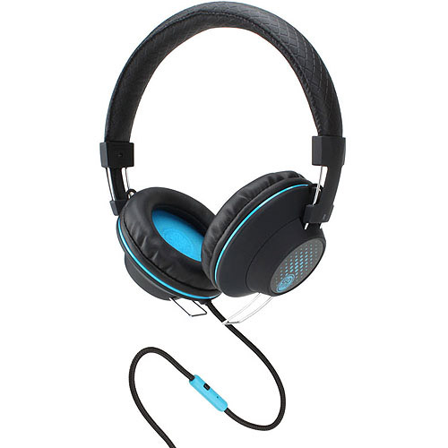 GOgroove Over-Ear Stereo Headphones with In-line Microphone, Black