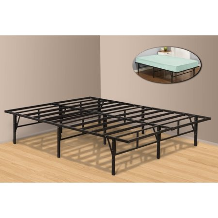 Full Size Metal Platform Bed Frame, Black