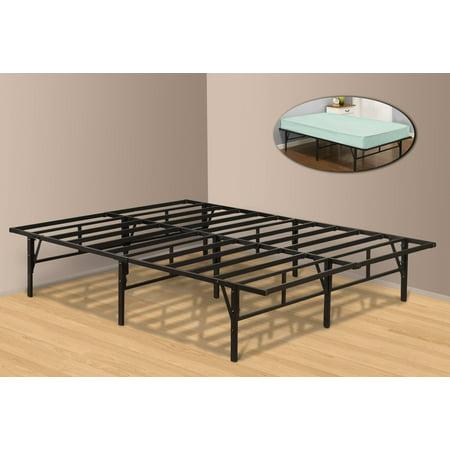 full size metal platform bed frame black. Black Bedroom Furniture Sets. Home Design Ideas