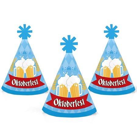Oktoberfest - Mini Cone German Beer Festival Hats - Small Little Party Hats - Set of 10 (German Hat)