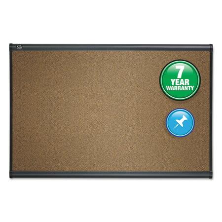 Quartet Prestige Bulletin Board, Brown Graphite-Blend Surface, 36 x 24, Aluminum Frame -QRTB243G