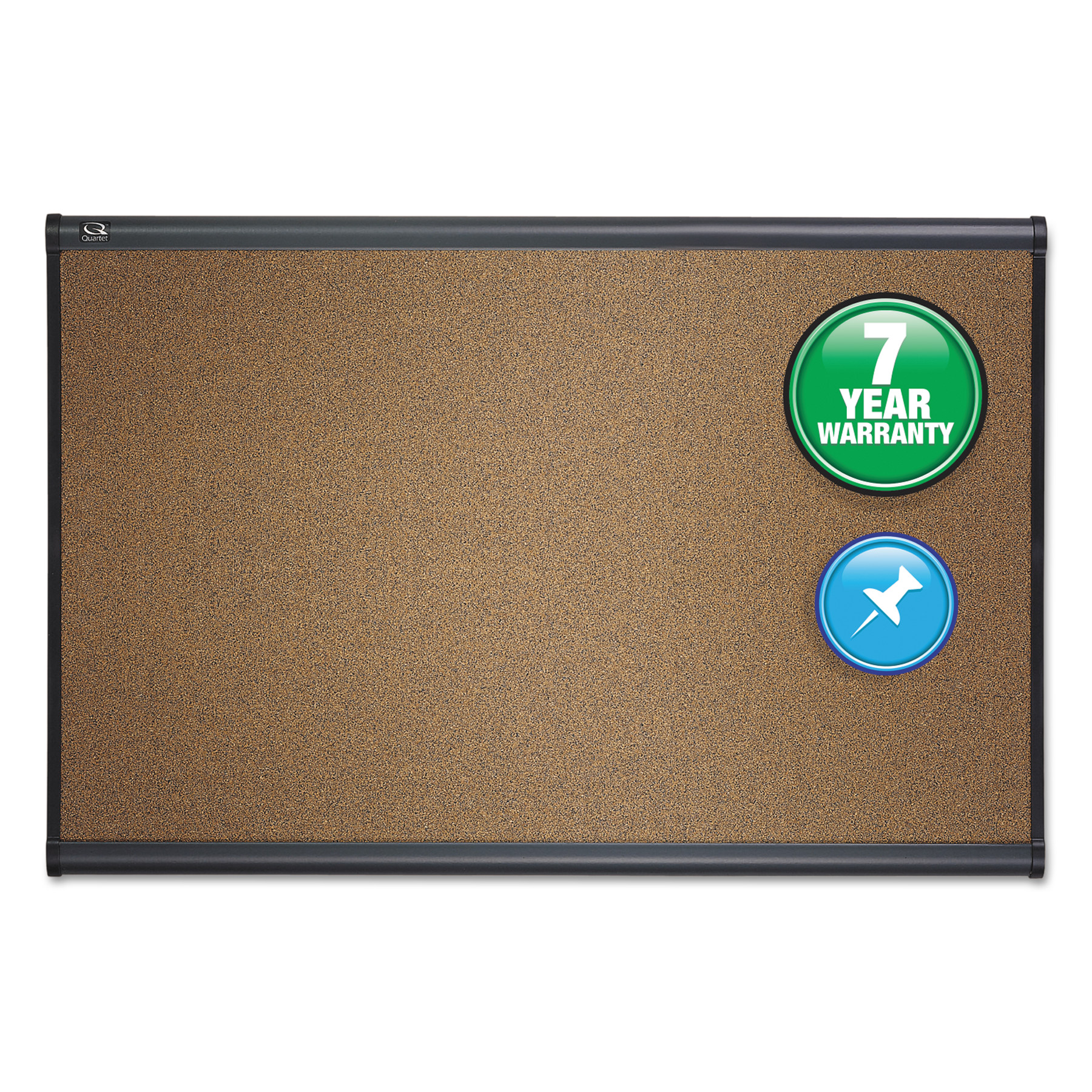 Quartet Prestige Bulletin Board, Brown Graphite-Blend Surface, 36 x 24, Aluminum Frame -QRTB243G