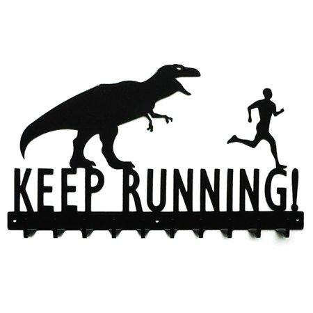 Knob Creek T-Rex Keep Running Medal - T-rex 600 Metal Tail
