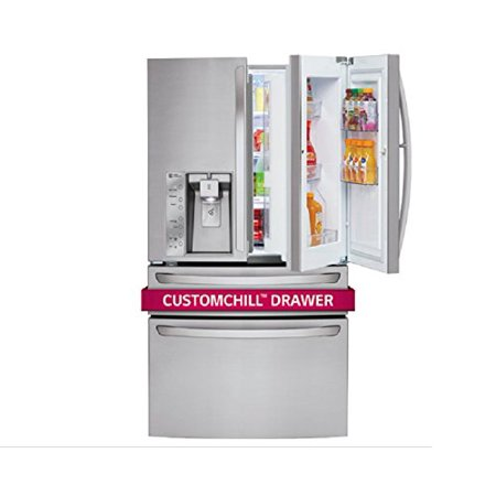 LG LMXS30776S 36 Inch French Door Refrigerator 30.0 Cu. Ft. Stainless Steel French Door Refrigerator - Energy Star