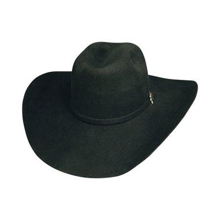 7' Grad Cap - BULLHIDE RESILIENT 6X 7 1/4 Large Wool Cowboy PBR Hat in (BLACK) Color