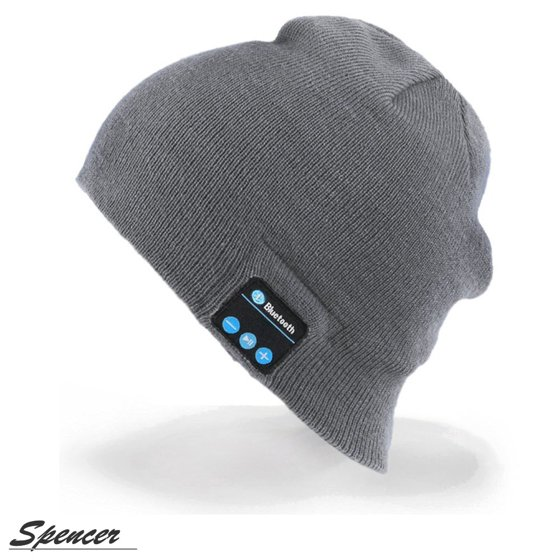 10eb8696 Spencer Bluetooth Music Beanie Wireless Bluetooth 4.2 Knit Hat with 2  Headphone Speakers & Mic for Men Women Christmas Gifts