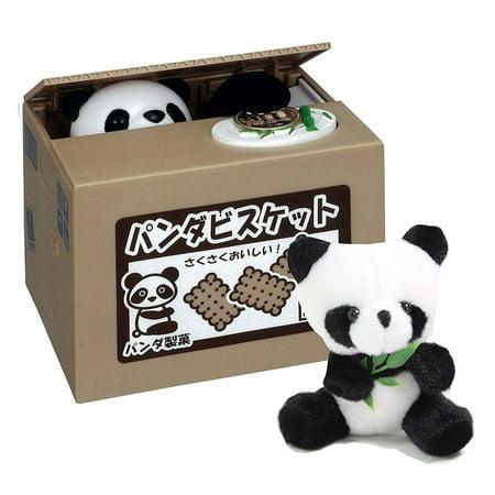Mischief Saving Box - Japanese Style Panda Stealing Coins Money Saving Box Piggy Bank + Panda Plush