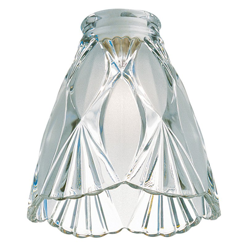 Monte Carlo Ceiling Fan Etched-Glass Scalloped Bell Shade