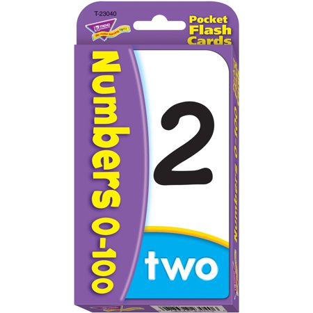 Trend, TEP23040, Numbers 0-100 Flash Cards, 56 / - Number Cards
