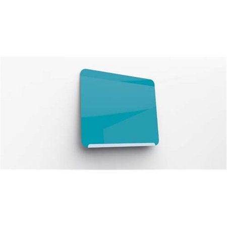 Ghent Manufacturing LWB2430BB 24.37 x 30 in. Premium Powder Coated Magnetic Link Markerboard, Soft Blue Base & Bright Blue Face - image 1 of 1