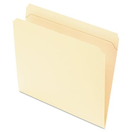 Pendaflex Reinforced Top Tab File Folders, 11 point Manila, Straight Cut, Letter, 100/Box -PFXR752